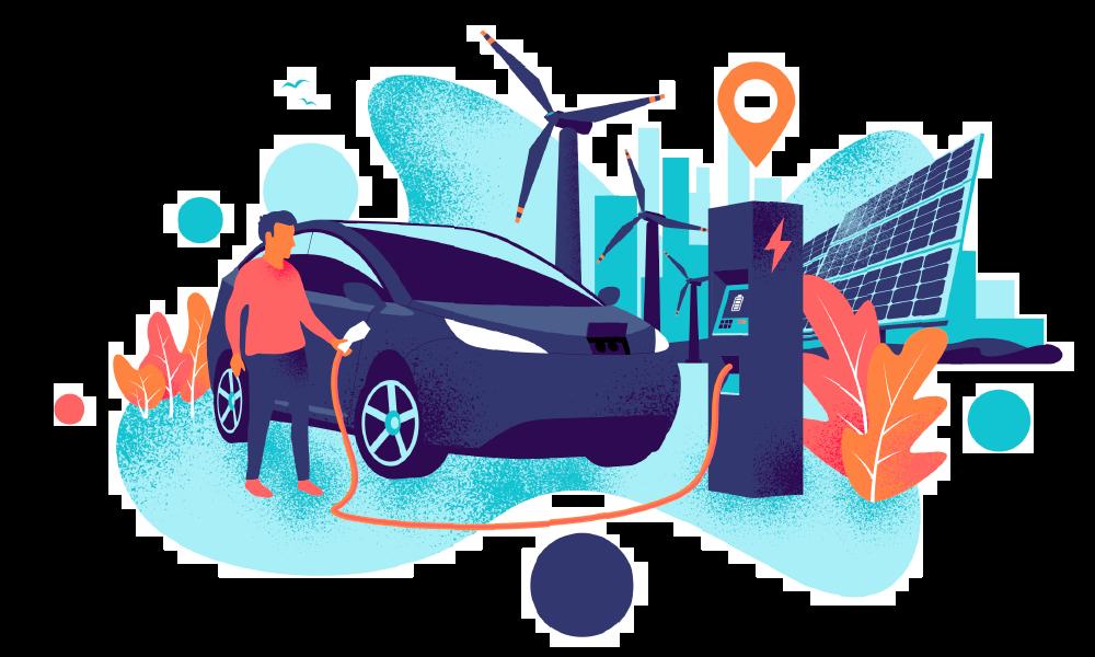 strøm til el bil